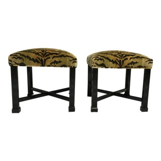 Chinese Chippendale Style Stools, a Pair For Sale