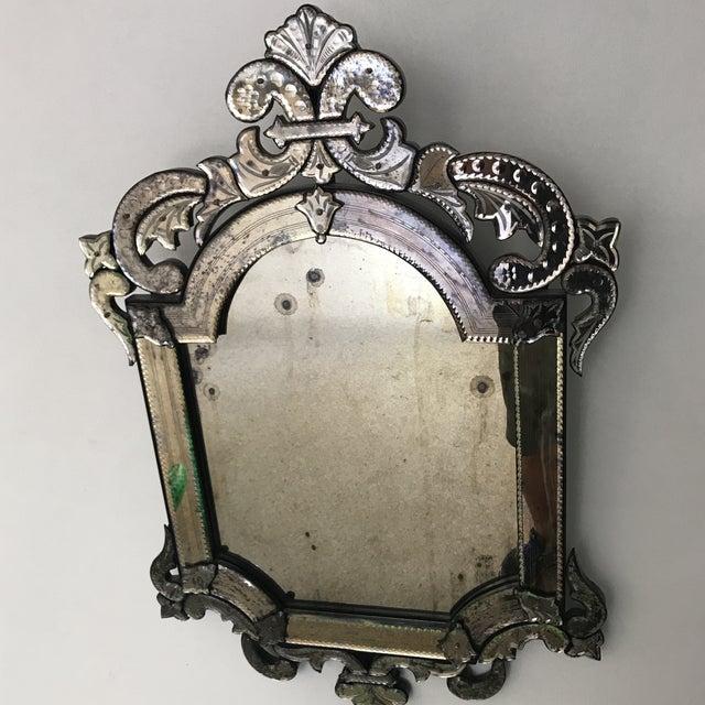 Murano Style Cut Glass Mirror - Image 2 of 8