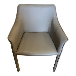 Conran Leather Look Dining Chair For Sale