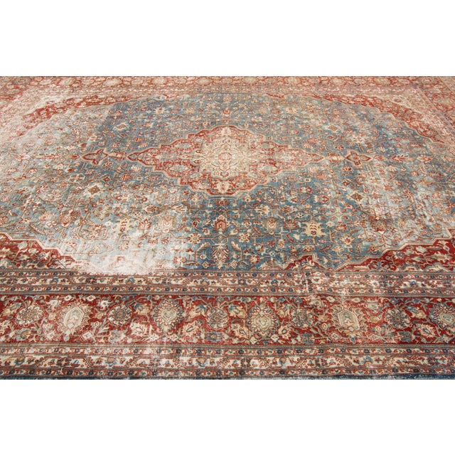 """Apadana-Antique Persian Distressed Rug, 8'5"""" X 12'0"""" For Sale In New York - Image 6 of 9"""