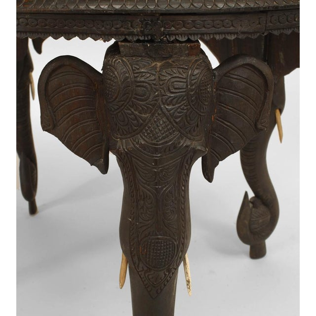 Asian Burmese Style Ebony Low Center Table For Sale - Image 4 of 12