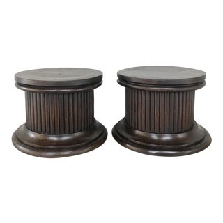 Pair Antique Neoclassical Pedestals ~ Risers For Sale