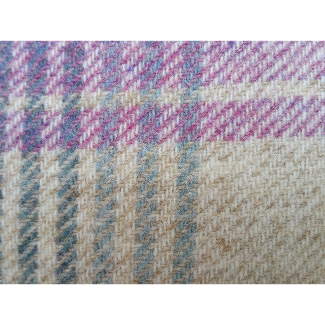 Liberty & Co. Soft Plaid Wool Pillow For Sale - Image 4 of 5