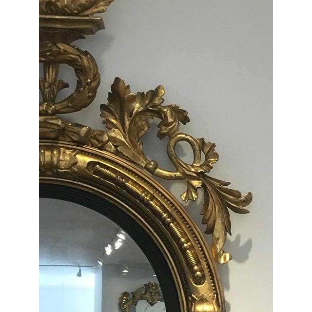 Pair of 19th Century Regency Convex Mirror Girandoles With Hippocampus For Sale - Image 4 of 6
