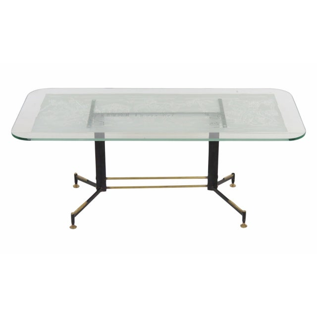 Italian Modern Ireon Glasstop Coffee Table - Image 1 of 7