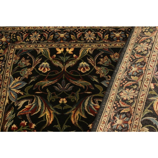 Abusson Pak-Persian Mina Black/Blue Wool Rug - 4'2 X 6'2 For Sale In New York - Image 6 of 8