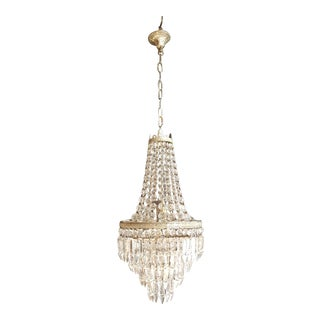 Silver Empire Sac a Pearl Chandelier Crystal Lustre Ceiling Lamp Hall Antique For Sale