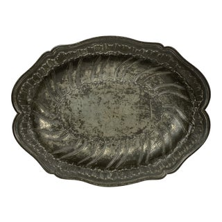French Pewter Shallow Bowl For Sale