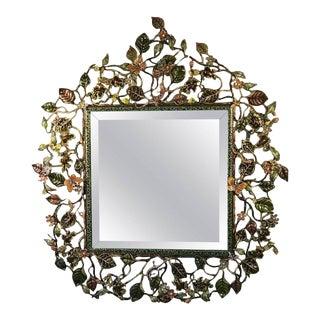 Jay Strongwater Enamel & Swarovski Crystal Wall Mirror For Sale