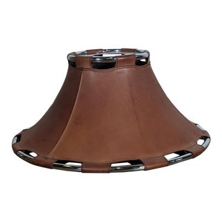 Scandinavian Modern 1970s Leather Pendant Lamp by Anna Ahrens for Ateljé, Sweden For Sale