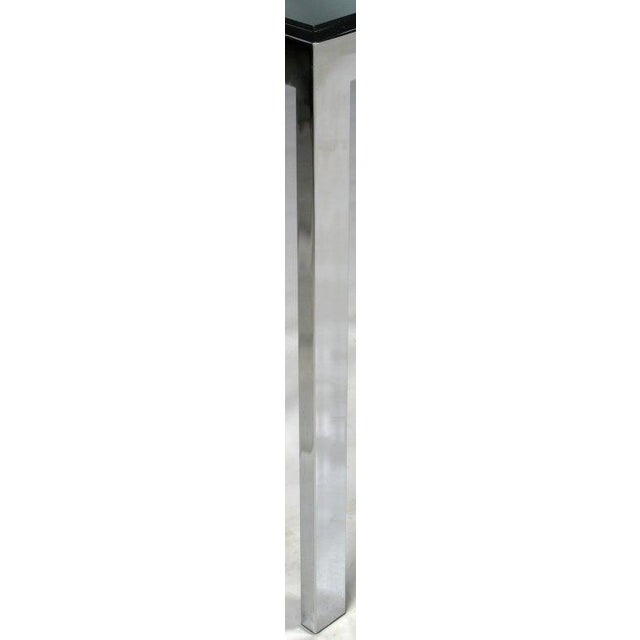 Chromed Steel Parsons Style Dining Table By Milo Baughman - Image 8 of 8