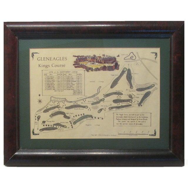 Vintage Print of Scottish Gleneagles King's Course For Sale - Image 4 of 4