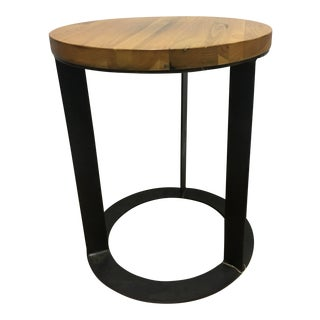 Modern Accent Wood Top Side Table