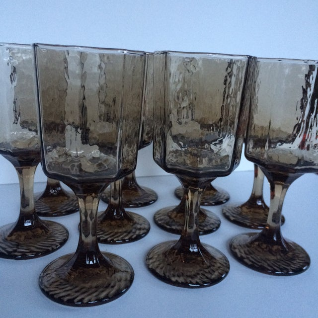Vintage Octagonal Stemmed Glasses - Set of 10 - Image 3 of 10