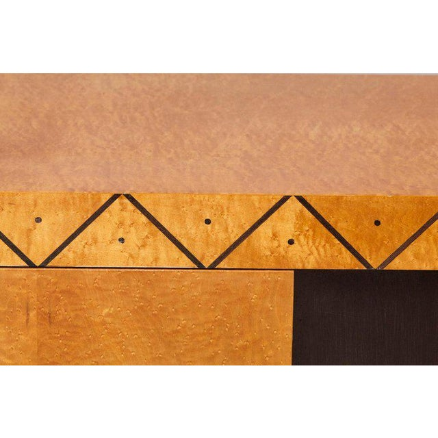 Tan Pace 'Boca' Collection Memphis Style Inspired Lacquered Credenza For Sale - Image 8 of 9