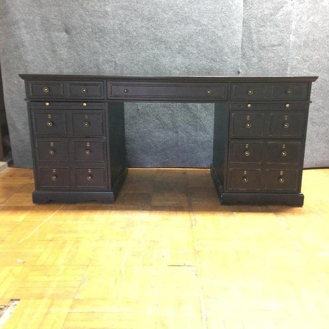 Dark Brown Wooden Desk - Image 2 of 9