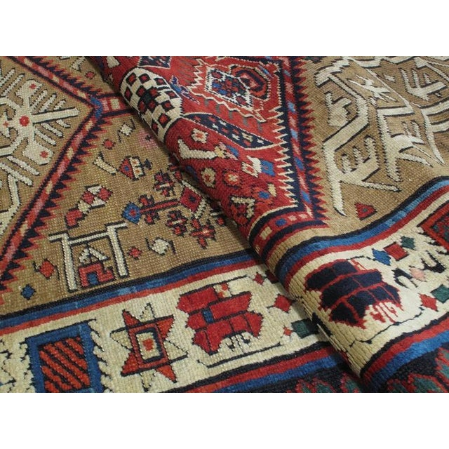 Purple Antique Serab Long Rug For Sale - Image 8 of 8