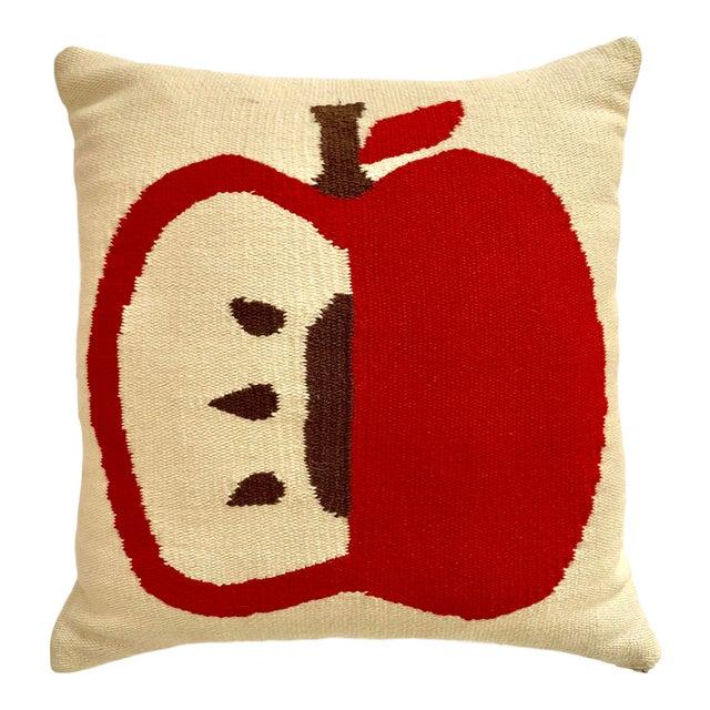 Contemporary Jonathan Adler Apple Pillow - 14ʺW × 14ʺH For Sale