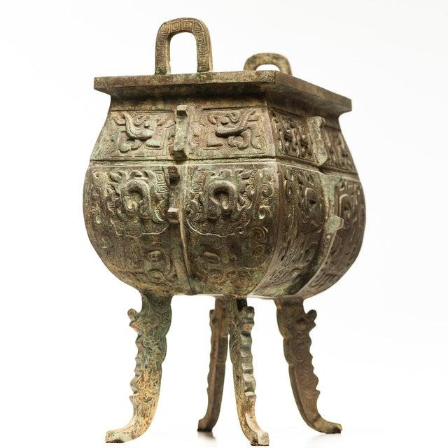 2010s Verdigris Bronze Incense Burner For Sale - Image 5 of 7