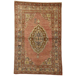 "20th Century Turkish Oushak Accent Rug, Entry or Foyer Rug - 3'6"" X 5'4"" For Sale"
