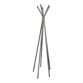 Modern Room and Board Brushed Nickel Coat Rack