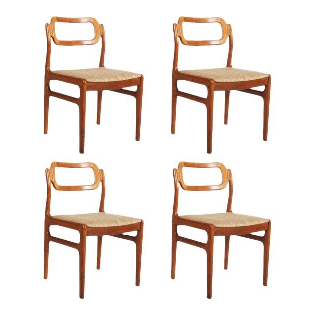 Danish Teak Chairs by Uldum Møbelfabrik, 1960s - Set of 4 For Sale