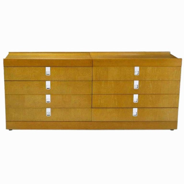 Art Deco Brian Palmer For Baker Birdseye Maple Modular Three Piece Cabinet For Sale - Image 3 of 7