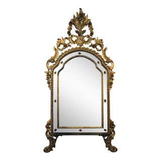 Hollywood Regency Louis XVI Style Wall or Console Mirror, Italian For Sale