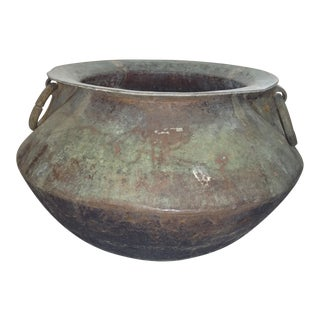 1910s Anglo-Indian Ceylon Brass Cooking Cauldron For Sale