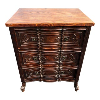 Carved Front Three-Drawer Dresser