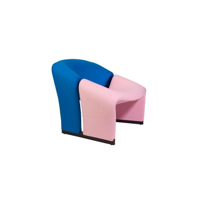 Pierre Paulin Oscar De La Renta Cashmere Upholstered Chairs & Ottomans- 4 Pieces - Image 8 of 10