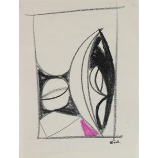 Michael DI Cosola Petite Geometric Abstract in Pastel, Late 20th Century For Sale