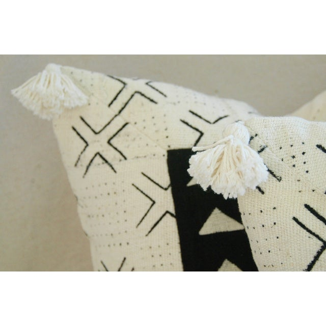 Handwoven African Tribal Textile Pillows - Pair - Image 9 of 10