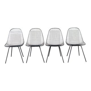Herman Miller Set of 4 Wire Chairs For Sale