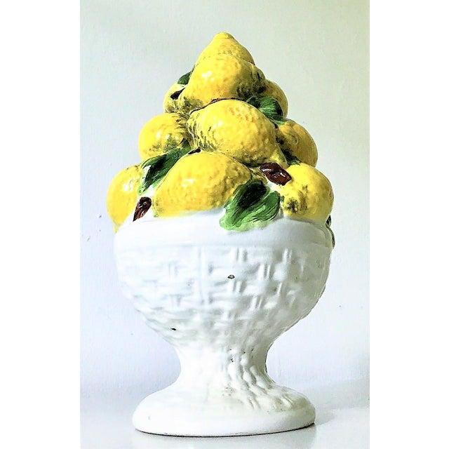 Yellow Italian Majolica Lemon Topiary ( 2 Available), Mid-Century For Sale - Image 8 of 11