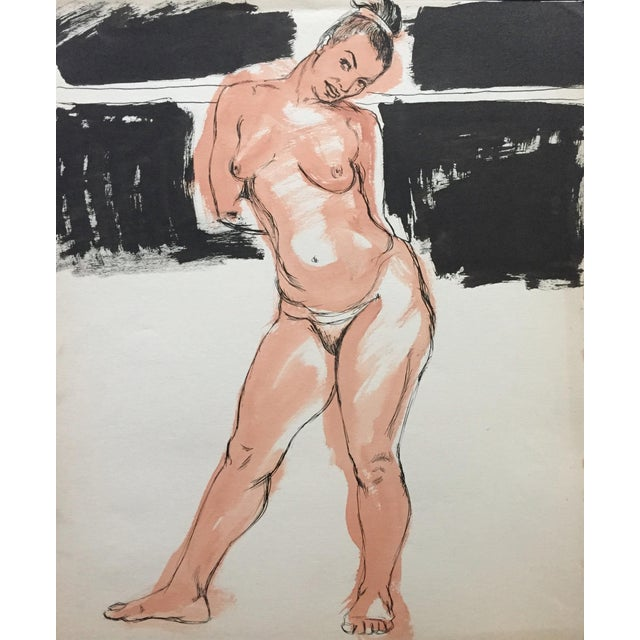 1950s Model Flo Allen Painting Bay Area Figurative For Sale