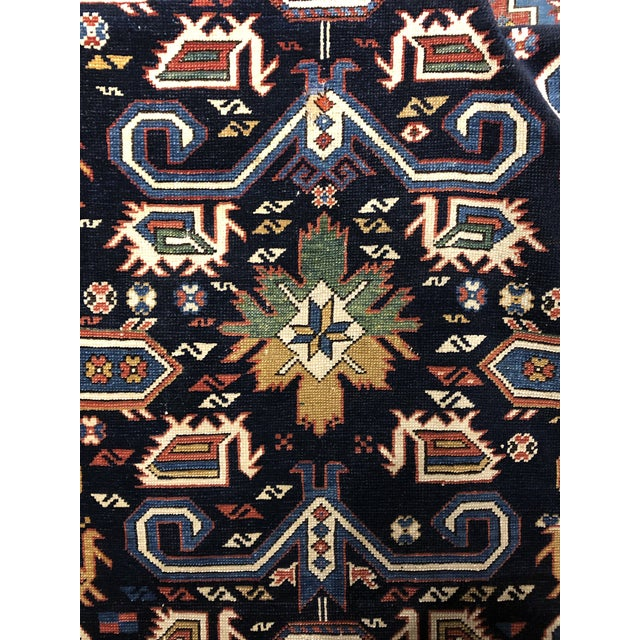 Early 20th Century Antique Persian Caucasian Kazak For Sale - Image 5 of 6