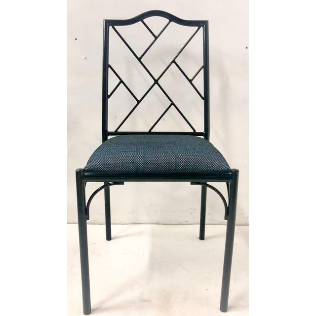 Black Chippendale Style Dining Chairs, Set of Six For Sale - Image 8 of 12