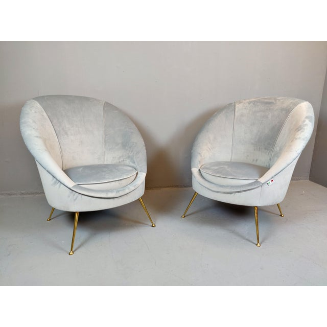 Italian Mid-Century Armchairs - a Pair For Sale - Image 12 of 12