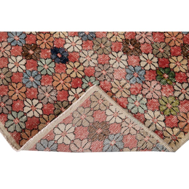 Vintage Turkish Scatter Wool Rug 4 X 7 For Sale - Image 4 of 13