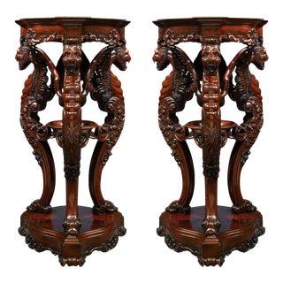 Irish Rosewood Pedestals