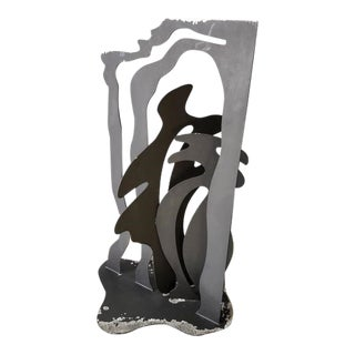 "2002 ""Longest Stream"" Contemporary Abstract Steel Sculpture by Mary Gillis For Sale"