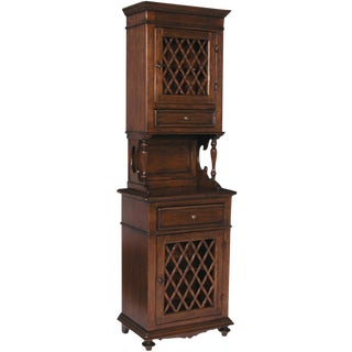 Italian Walnut Hutch -- 2475 For Sale