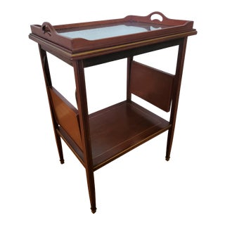 1920s French Neoclassical Mahogany & Rosewood Serving Table For Sale