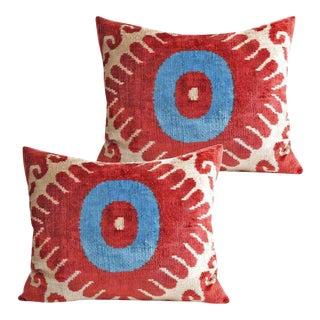 Silk Velvet Accent Pillows - A Pair