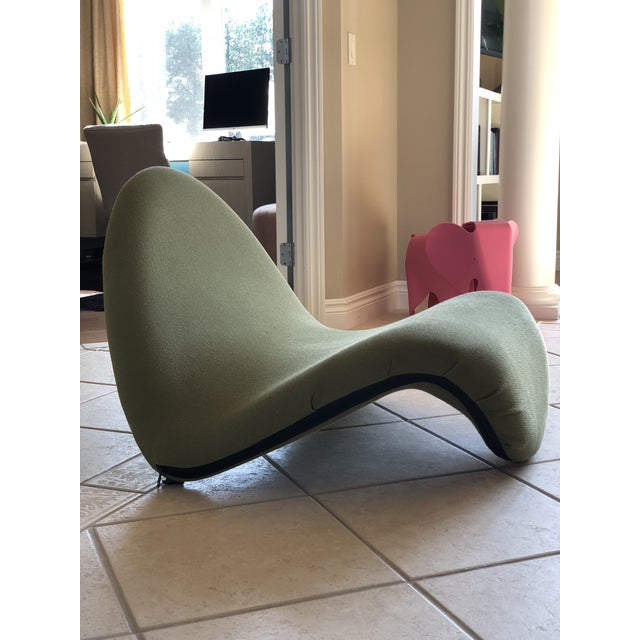 Blue Pierre Paulin for Artifort Green and Blue Tongue Chairs For Sale - Image 8 of 12