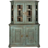 Image of Painted Baroque Display Cabinet For Sale