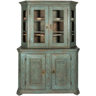 Painted Baroque Display Cabinet For Sale