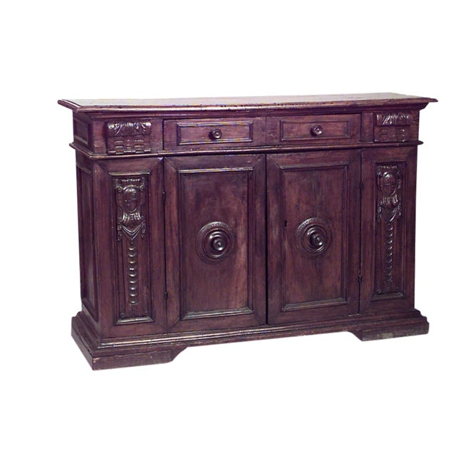 Spanish Renaissance Style '17th Century' Sideboard Cabinet For Sale
