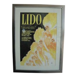 Vintage LIDO Posters - Set of 4 For Sale